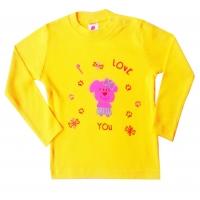 """1452-8 """"I Love You"""" Кофта с вышивкой для девочек, 1-4 года"""