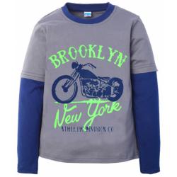 "101311-04 ""Brooklyn"" Лонгслив для мальчика, 10-13 лет, серый"