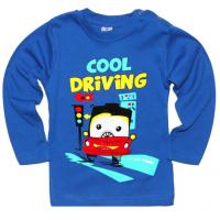 "1411-16 ""Cool Driving"" Кофта на кнопках, интерлок 1-4 года, синий"
