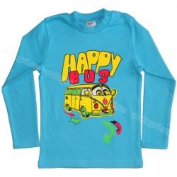 """1451-17 """"Happy Bus"""" Кофта для мальчиков, (на конопк.), интерлок, 1-4 года"""
