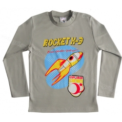 """1451-22 """"Rocket"""" Кофта для мальчиков, (на конопк.), интерлок, 1-4 года"""