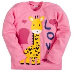 """2512-7 """"Love"""" кофта для девочек, интерлок, 2-5 лет, розовый"""