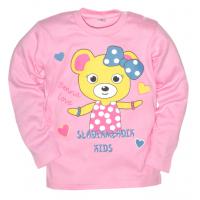 """2512-003 """"Милашка"""" кофта для девочек, интерлок, 2-5 лет, розовый"""