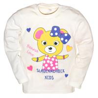"""2512-005 """"Милашка"""" кофта для девочек, интерлок, 2-5 лет, молочный"""