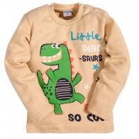 """2511-3 """"Little Dino"""" кофта для мальчика, интерлок, 2-5 лет, бежевый"""
