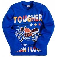 "2511-4 ""Tougher than I Look"" кофта для мальчика, интерлок, 2-5 лет, ультрамарин"