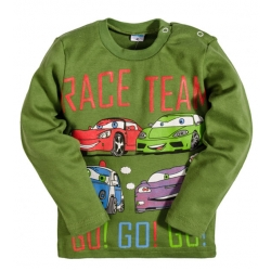 """2511-5 """"Race Team"""" кофта для мальчика, интерлок, 2-5 лет, травяной"""