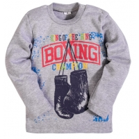 """2511-8 """"Boxing"""" кофта для мальчика, интерлок, 2-5 лет, (серая искра)"""