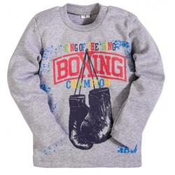 """2511-8 """"Boxing"""" кофта для мальчика, интерлок, 2-5 лет, серая искра"""