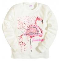 """5812-05 """"Фламинго"""" Джемпер для девочек, интерлок, 5-8 лет, белый"""