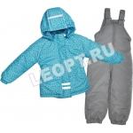 ЛЕО. Комплект для девочки, куртка (мех)+ полукомбинезон РАСПРОДАЖА