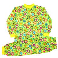 44-1527 Пижама для девочки, кулир, 1-5 лет