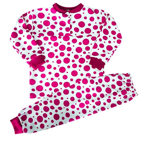 44-1529 Пижама для девочки, двухнитка с начёсом, 1-5 лет