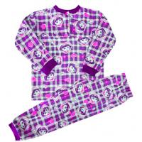 Пижама для девочек (на кокетке), кулир, 1-5 лет