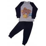 "1481-02 ""Mommy's Teddy"" Комплект домашний, 1-4 года, серый/т.синий"