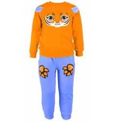 """1481-26 """"Веселые мордашки"""" Комплект домашний для мальчика, 1-4 года, оранжевый\голубой"""