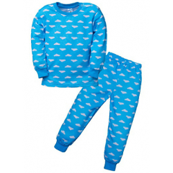 """3681-007 """"Облачка"""" Пижама для мальчиков, 2-5 лет, голубой"""