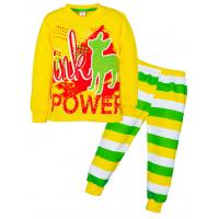 """3782-019 """"Fawn Power"""" Пижама, 3-7 лет, интерлок, желтый"""