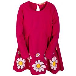 B-5881 Платье для девочки, 5-8 лет, бордовый