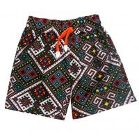 """3742-03 """"Орнамент"""" шорты с карманами для девочек, 3-7 лет"""