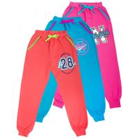 6992-001 Штаны для девочки на манжете с карманами, 2-х нитка, 6-9 лет