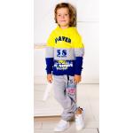 3791-101 Штаны для мальчика с карманами, 2-х нитка, 3-7 лет, серые