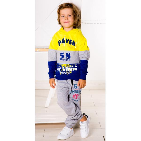 3791-101 Штаны для мальчика с карманами, 2-х нитка, 3-7 лет