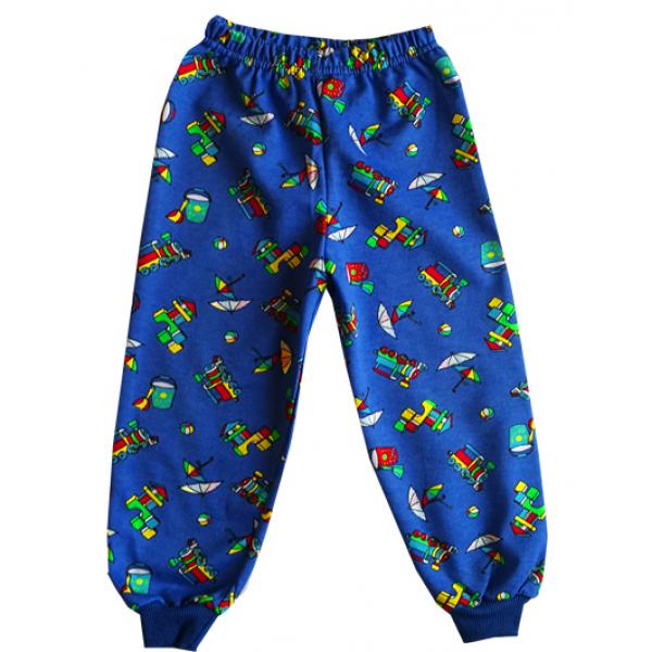 """44-1581567 """"Вояж"""" пижама для мальчиков 1-5 лет, двухнитка, синий*"""