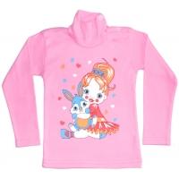 """1462-7 """"Куколка"""" водолазка для девочек 1-4 года,  розовый"""