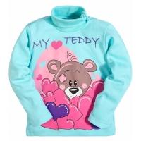 """2562-3 """"My Taddy """" водолазка для девочек, 2-5 лет, интерлок, мятный"""