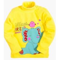 "2562-8 ""Слоненок"" водолазка для девочек, 2-5 лет, интерлок, желтый"