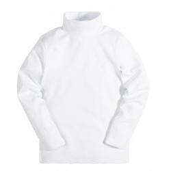 8950-1 Водолазка белая, рибана, 8,9 лет