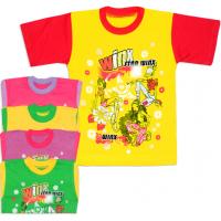 04-086 Футболка для девочек, кулир, 1-4 года
