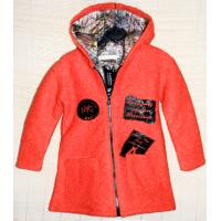 40-71203 Пальто демисезонное из буклированной шерсти 7-12 лет, морковный