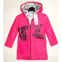 40-71206 Пальто демисезонное из буклированной шерсти 7-12 лет, фуксия