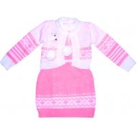 Комплект для девочек «Лада», платье+болеро 110\116