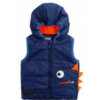 45B-5007 Жилет для мальчика с капюшоном, 2-5 лет, синий