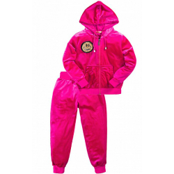 45B-2504 Костюм с капюшоном для девочки, королевский велюр, 2-5 лет, розовый
