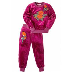 45B-5801 Костюм для девочки, королевский велюр, 5-8 лет, марсала