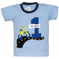 """10-14109 """"Я РАСТУ""""  футболка, 1-4 года, голубой"""
