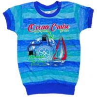 "10-58174 ""OCEANIC CRUISE"" Футболка на манжетах, 5-8 лет"
