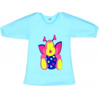 """11-25129 """"Butterfly"""" Туника-платье, 2-5 лет, бирюза"""
