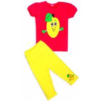 """11-253225 """"ЛАЙМ"""" комплект футболка с бриджами, 2-5 лет, красный"""