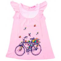 """11-25834 """"Велосипед"""" Платье-туника, 2-5 лет, розовый"""