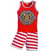 """11-372176 """"Blue Star"""" комплект летний, 3-7 лет, красный"""