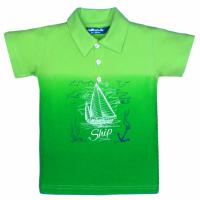 """11-37711 """"Ship"""" Рубашка-поло, 3-7 лет, пике, зеленый\салатовый"""