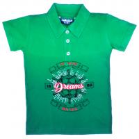 """11-37715 """"Dreams"""" Рубашка-поло, 3-7 лет, пике, темно-зеленый\зеленый"""