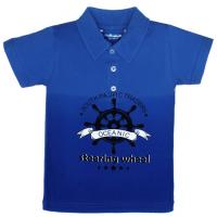 "11-37716 ""Oceanic"" Рубашка-поло, 3-7 лет, пике, темно-синий\синий"