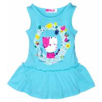 """11-37801 """"Котик"""" Платье для девочки, 3-7 лет, голубой"""
