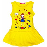 """11-37802 """"Романтика"""" Платье для девочки, 3-7 лет, желтый"""